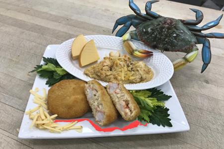 shrimp & crab au gratin