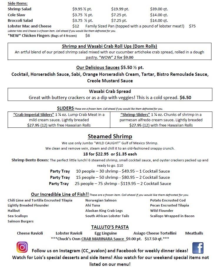 captn chuckys avalon menu page 2 2021